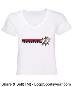 Anvil Ladies Ringspun V-Neck T-Shirt Design Zoom